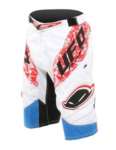 Ufo Guyana White/Red/Blue - Pantaloncino DownHill/Freeride