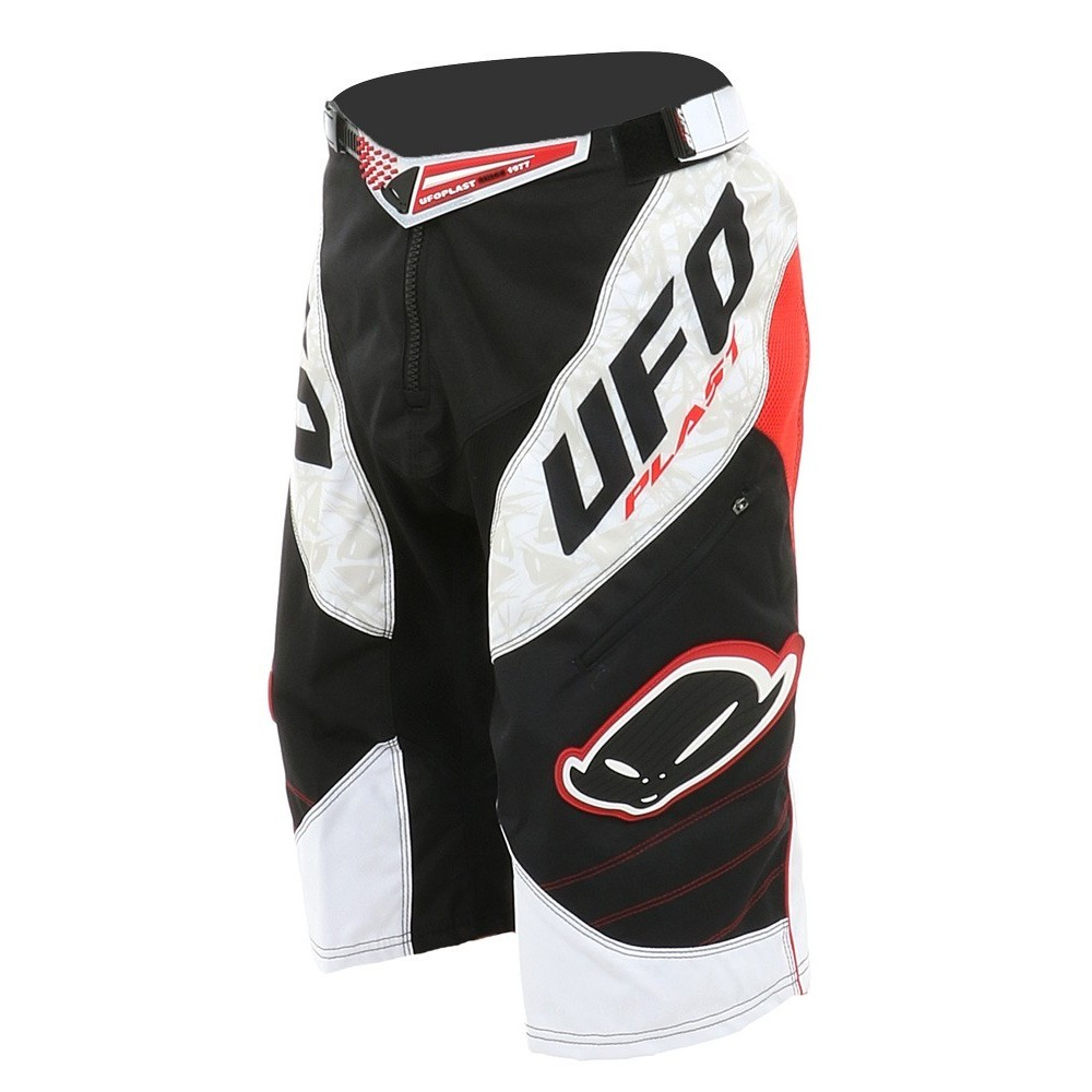 Ufo Guyana White/Black/Red - Pantaloncino DownHill/Freeride