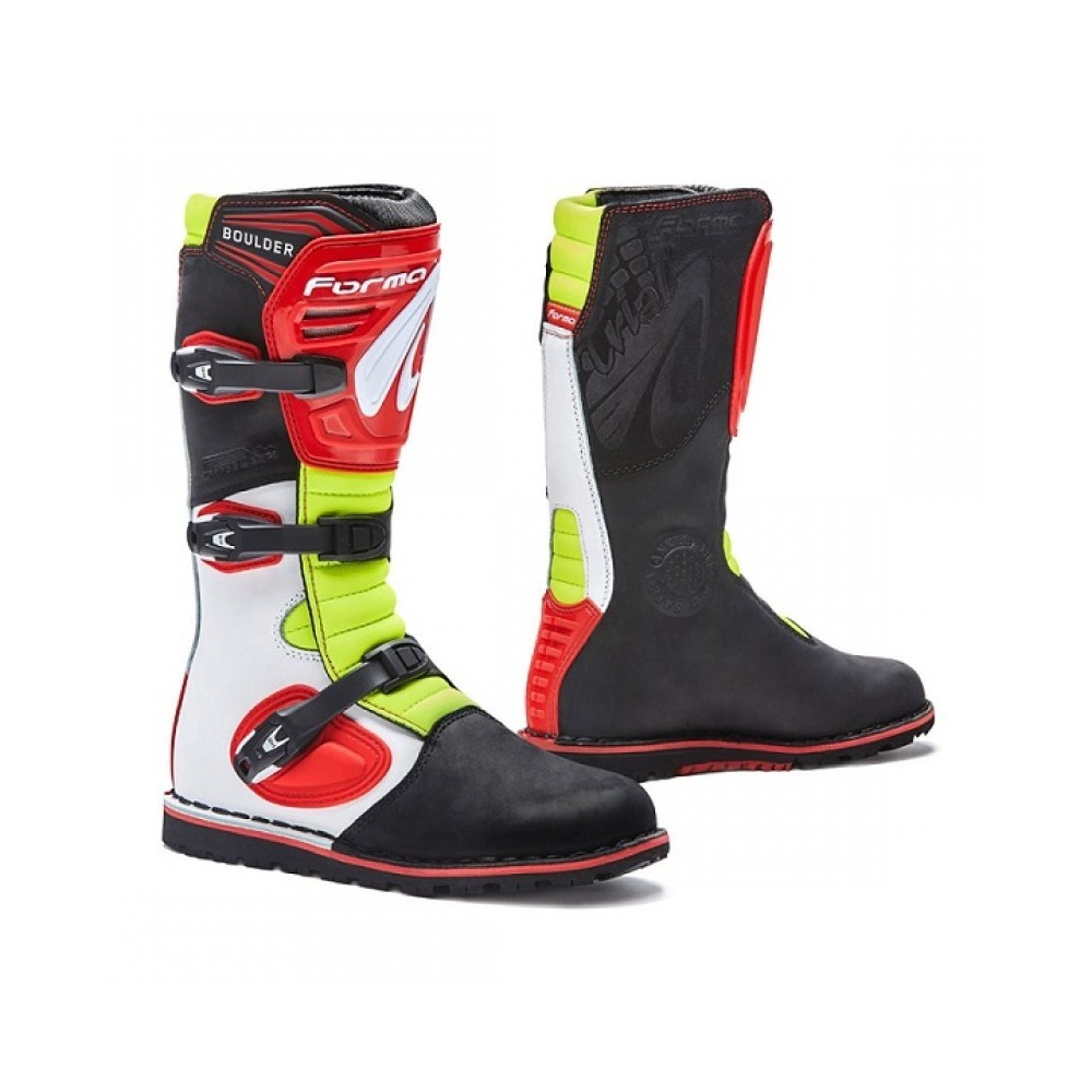 Forma Boulder Trial - Wht/Red/Yellow Fluo