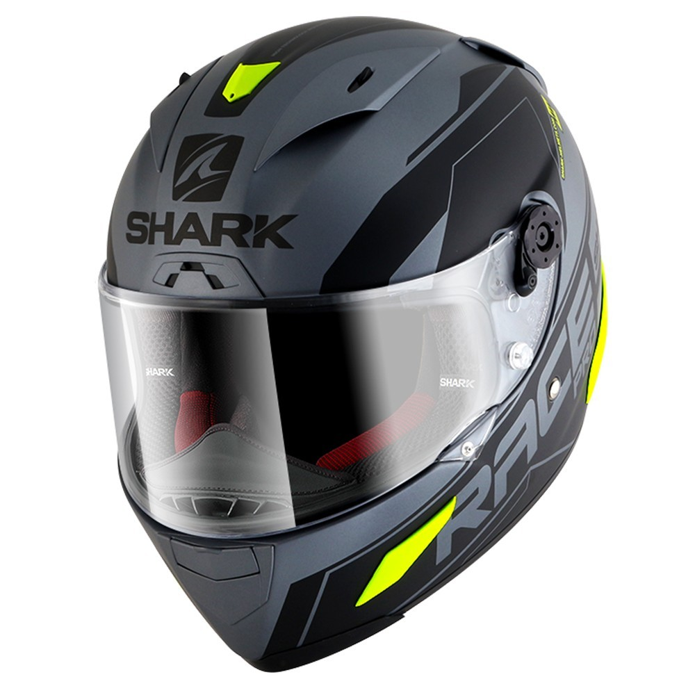 Shark Race R-pro - Saur Matt Grey/Yell Flou