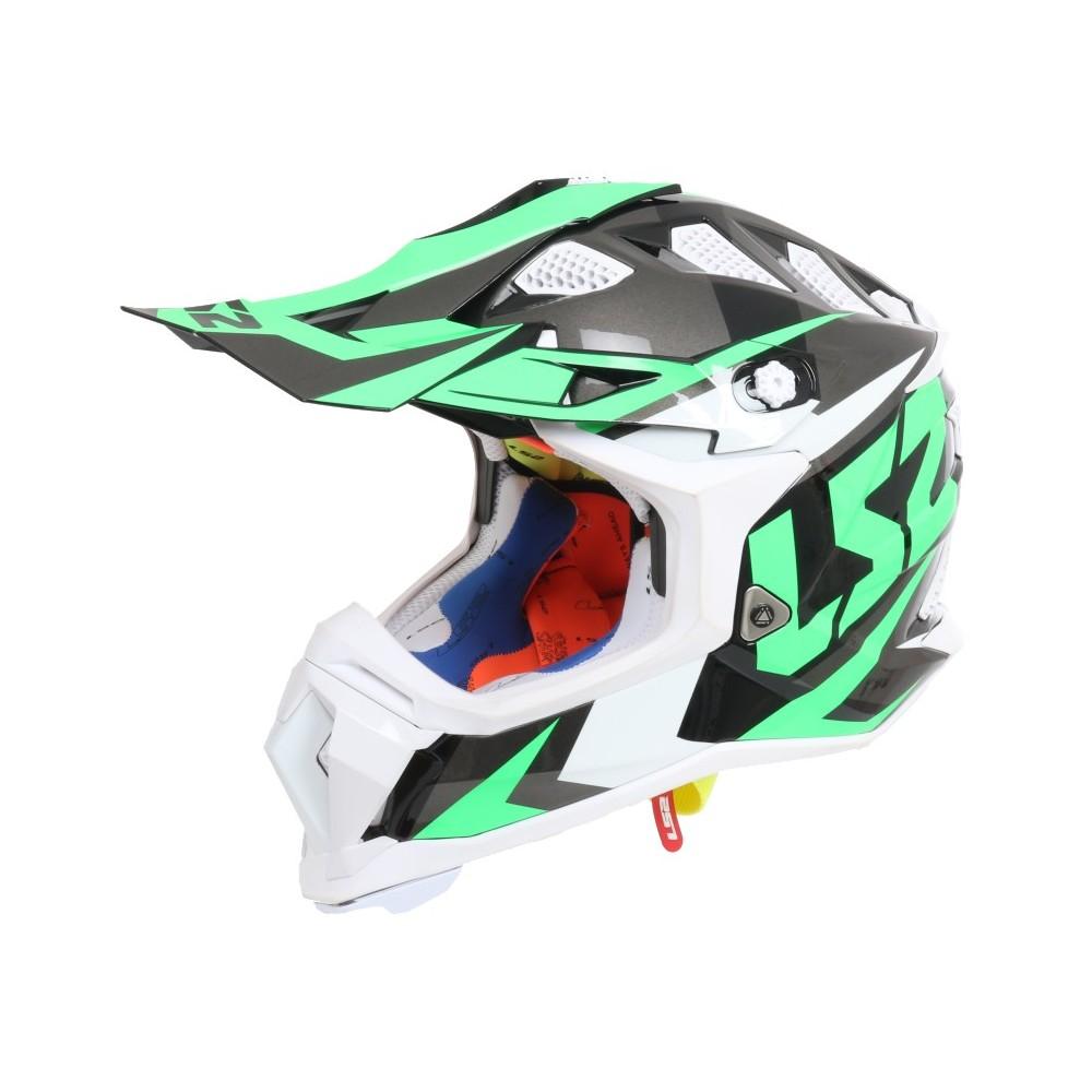 LS2 MX470 Subverter Nimble - Black/White/Green