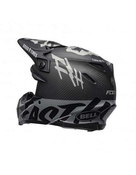 Bell Moto-9 Flex WRWF - Matt/Gloss Black/White/Gray