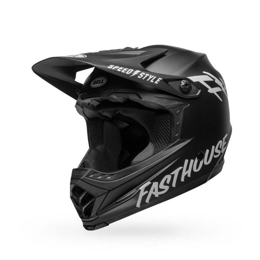 Bell Moto-9 Mips Youth Fasthouse - Matte Black/White