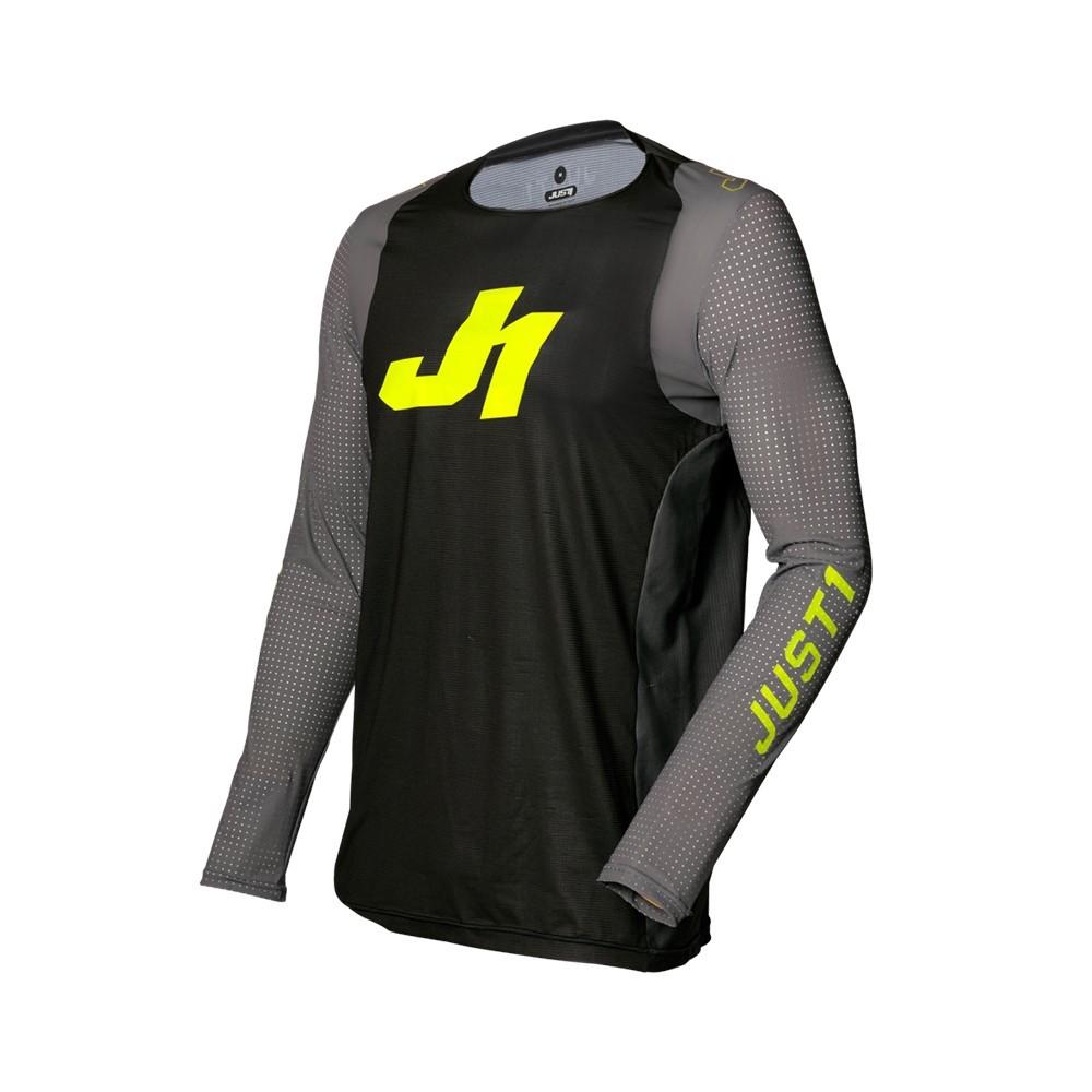 Just1 J-Flex Arai - Maglia - Drk Gry/Fluo Yell