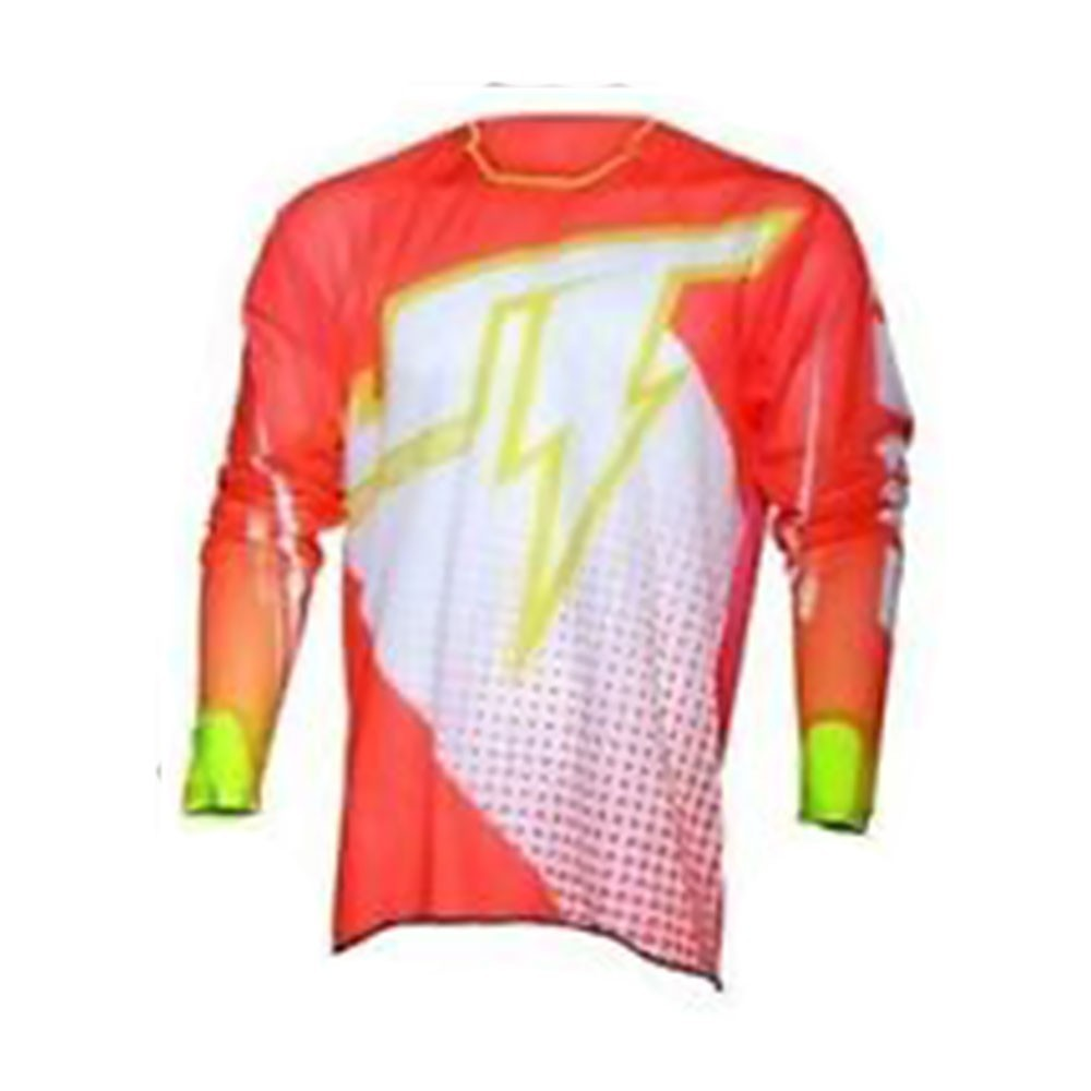JT Racing Hyperlite Voltage - Maglia - White/Yellow/Red