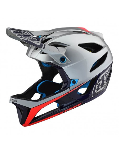Troy Lee Design Stage Mips Race - Silver/Nv
